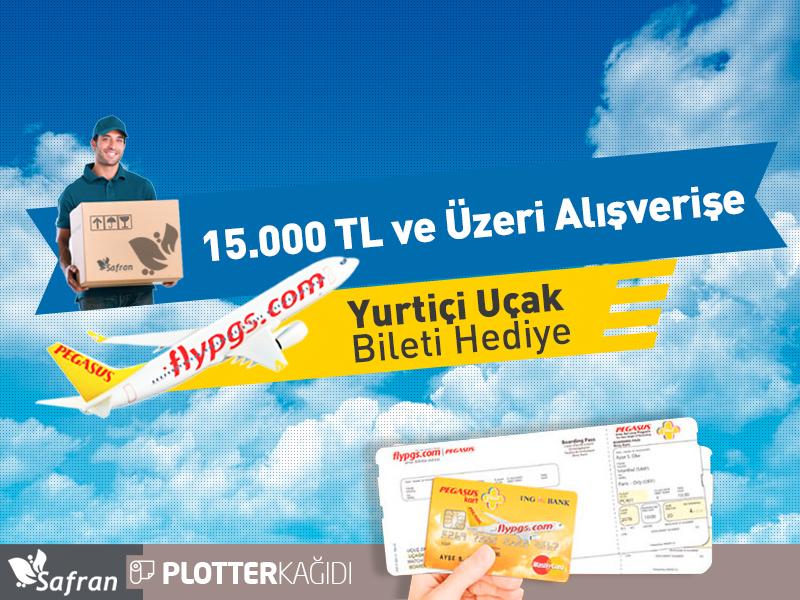 15.000TL ve Üzeri Alışverişe Yurtiçi Uçak Bileti Hediye (PGS ile)